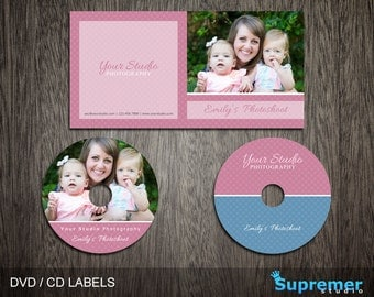 CD Cover Template - cd Label Template - dvd Cover Template PSD - dvd Label Template - cd Case Photoshop PSD Template CD002