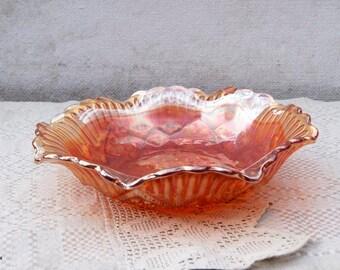 Vintage Carnival Glass Marigold Bowl