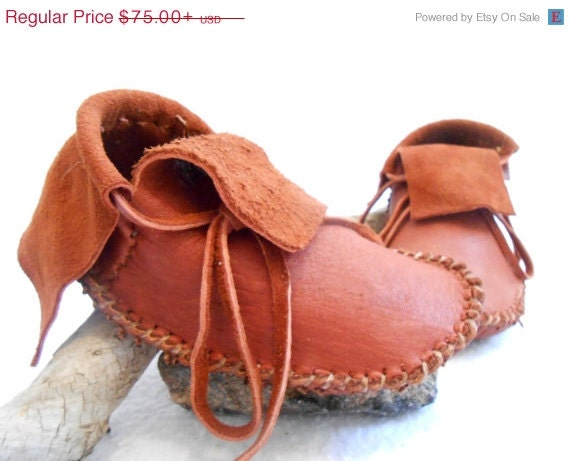 Short moccasins traditional native american plains style custom made