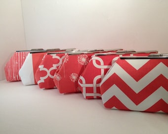 Discount Pricing for multiple Coral Clutch Purses