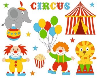 Carnival Clown Clip Art