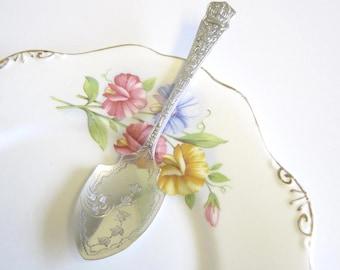 Antique Victorian Silver Plated Preserves Spoon, Deykin & Sons, Birmingham, Jam or Jelly Spoon