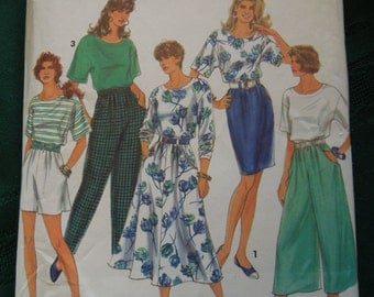 Simplicity 7898, Size large, xlarge, skirt, pants, top, split skirt, UNCUT sewing pattern, craft supplies