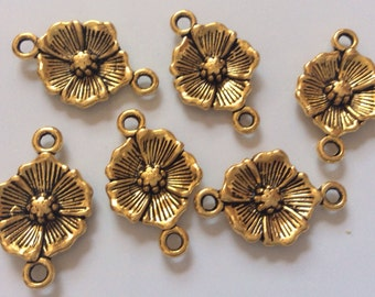 12 pcs Antique Golden Alloy Link,Antique golden link,antique golden connector,golden link,antique golden charm,brass connector,brass link