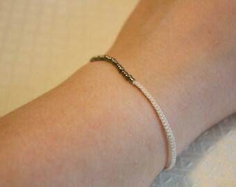 bead and macrame bracelet