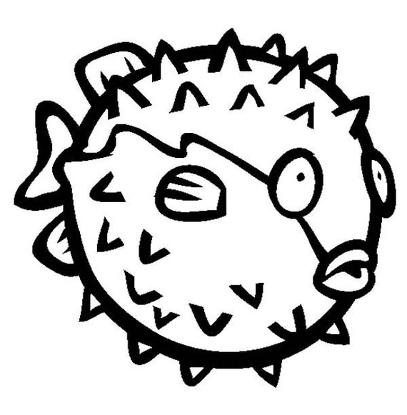 ocean puffer fish coloring pages free - photo #16