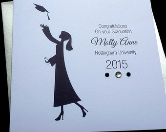 Personalised Handmade Graduation Card- Male or Female