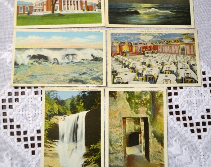 Vintage Postcard Set of 6 Florida Virginia North Carolina Chicago Various Travel Souvenirs PanchosPorch