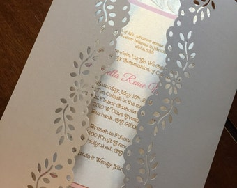 Baptism / First Communion Invitations. Set of 10.