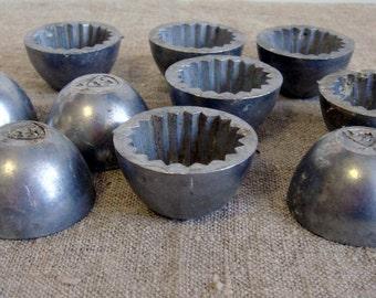 Antique cake moulds 10 pcs set of molds kitchenware cake Molds thick Cake Mould Soap Molds Bakeware, made in Latvia, Lettlend 1940s / v355