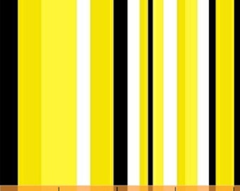 Half Yard Graffiti - Stripes in Yellow - Cotton Quilt Fabric - by Another Point of View for Windham Fabrics - 37405-2 (W2651)