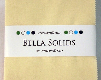 """BELLA SOLIDS Charm Pack in Neutral Colors - (42) 5"""" x 5"""" Squares - Cotton Quilt Fabric Precuts - Moda Fabrics - 9900PP-21 (W2739)"""