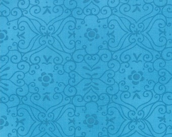 One Yard Bloomin' Fresh - Garden Lattice in Sky Blue - Cotton Quilt Fabric - designed by Deb Strain for Moda Fabrics - 19666-15 (W2769)