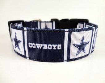 Dallas Cowboys Dog Collar - Adjustable