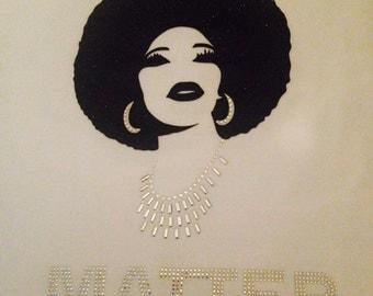 Black or Gold Glitter Afro- Black Lives Matter T-Shirt © 2015. All Rights Reserved.
