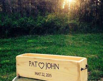 Personalized Cedar Herb Planter Box