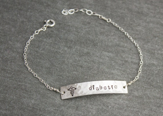 Sterling Silver Medical Alert Custom Bracelet