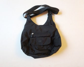 Tote bag, black bag -Travel  bag  for Her - Organizer -black Nylon bag