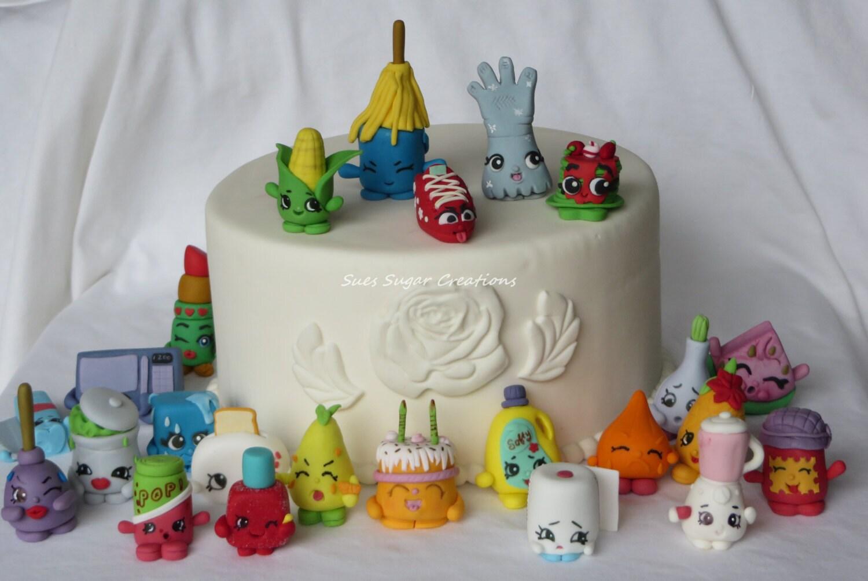 Cake Decorating Fondant Characters : Fondant Shopkin Cake topper-Shopkin birthday edible decoration