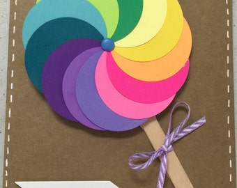 Cute Lolly Pop Card