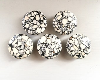 White Taiwain Turquoise Magnets, Set of 5