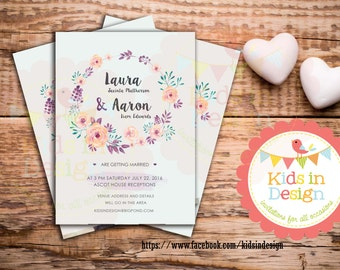 Personalised Invitation, Save-the-Date, Wedding Invitation, Casual, Custom print, Modern Invitation