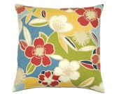 Floral Pillow, 14x14 Pillow Cover, Decorative Pillows, Throw Pillow, Toss Pillows, Cushion Cover, cm, Floral