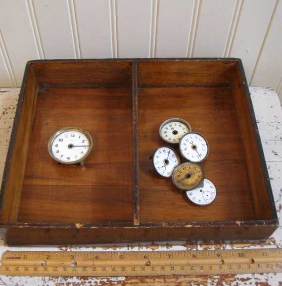 Vintage Wooden Box Divided Utensil Box Farmhouse By Poemhouse