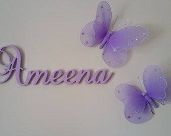 Nursery Letters Decor - Wooden Wall Letters Name Plaque for Children / Home Decor / Nursery Decor, girl or boy decor