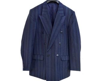 Vintage Wess Kollektion Wison & Klader cool wool black blazer jacket man size 50 made in Sweden