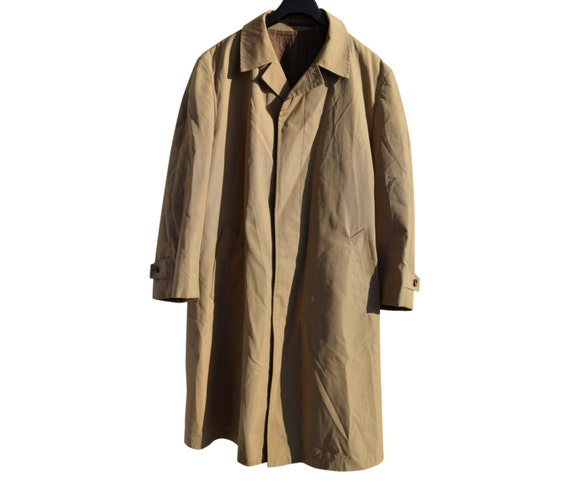 Mens Coat Valmeline Men Vintage Removable Lining Metal Zipper Beige oYNmBlfr
