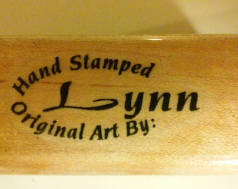 Hand stamped original art by Lynn stamp