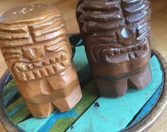 Tiki Totem Salt and Pepper Shakers
