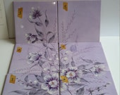 Rare 1980's Majolica Poster Mural Wall Tiles signed W. Raphael (6) Italy Lavender Flowers