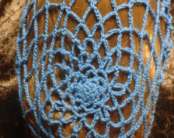 Rosette Crocheted Snood - (Made to order)
