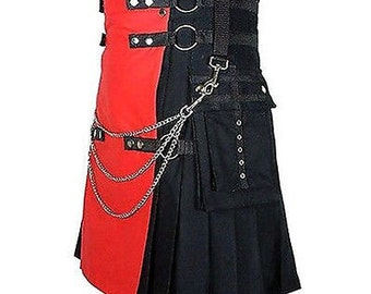 Mod Temper Fashion Utility Kilt with Chains