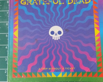 Grateful Dead Jerry Garcia Vintage Retro Book
