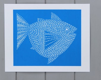 Fish Screen print