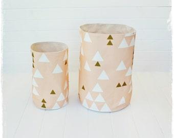 Triangle Blush - Fabric Storage Baskets