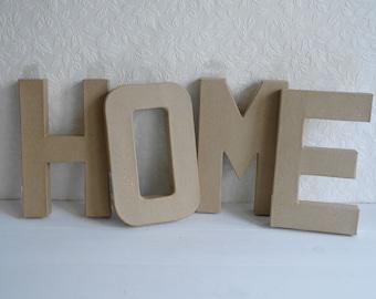 Paper Mache Letter Set - Home