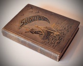 Sunday: reading for the young 1890 hardback Vintage UK Childrens Book Illustraded Poetry story book