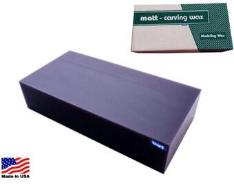 Matt Wax Carving Block Purple  WA 366-012