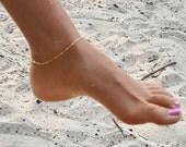 Gold anklet bracelet, anklet bracelet , gold anklet bracelet, gold filled bracelet, satellite anklet. anklet bead bracelet, beaucoupdebeads
