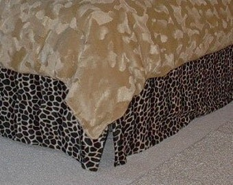 Animal Print Bed Skirt  (leopard, zebra, cheetah, cow print)