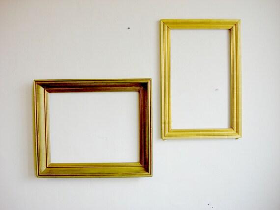 Large Gold Frame Glasses : Gold Frame Old wooden picture frames / Large Frame Art Frames