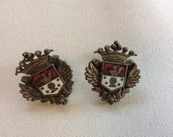 Vintage Shield Earrings