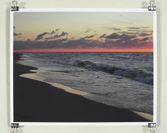 Twilight highlights the lake - 8x10 inch print