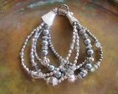 Silver bracelet-crystal bracelet-southwestern bracelet-cowgirl bracelet-boho bracelet