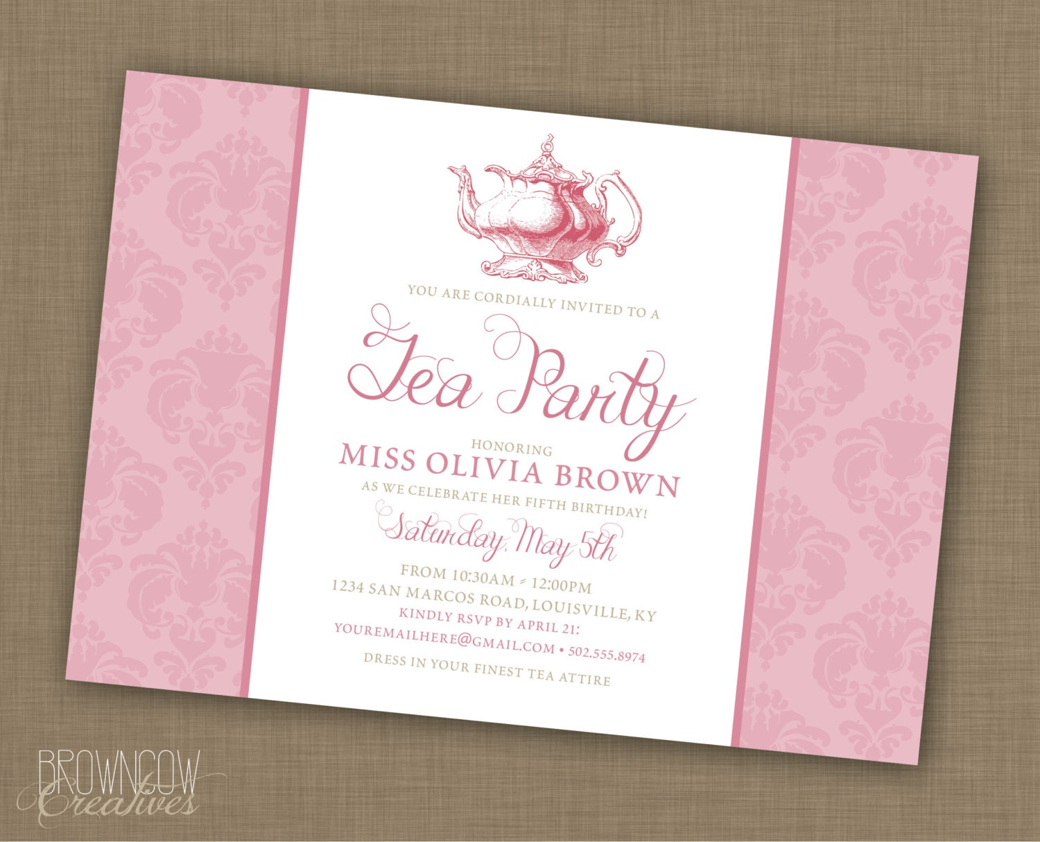 It's just an image of Hilaire Printable Tea Party Invitations