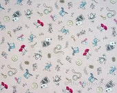 Alice in Wonderland Fabric ~ Japanese Fabric ~ Kokka Fabric ~ Pink Fabric ~ Home Decor Fabric ~ Cotton Linen Printed Canvas ~ Girls Fabric